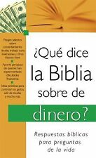 ¿Que Dice La Biblia Sorbre El Dinero? (What the Bible Says About...) (Spanish
