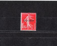 timbre France  Semeuse 1f05   orange surchargé   spécimen    NUM: 195-CI 1  *