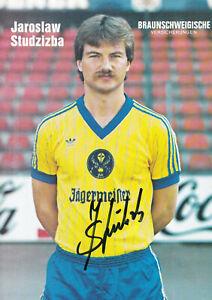 Jaroslaw STUDZIBABA - Polen, Eintracht Braunschweig 1981/82, Original-Autogramm!