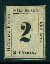 HAWAII 1864  Numerals  2c black  Type VIII  Scott #24  mint MH