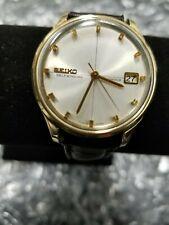 Seiko Self Winding Diashock Sea Lion M55 Gold ElectroPlate Men's Watch Date