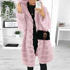 Mujeres Faux fur abrigo largo Espesar Prendas para el torso Abrigo De Invierno Cálido Chaqueta de visón de imitación
