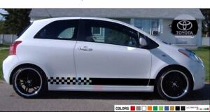 Sticker Stripe for Toyota Yaris Vitz 2011 2012 2013 2014 2015 2016 mirror vent r