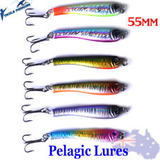 6X 24g Metal Slice Slugs Fishing Lures Pelagic Lead Slices Salmon Tailor Bonnies