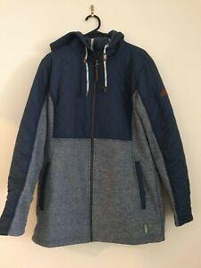 Kathmandu womens fleece longline jacket size 14 blue