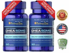 Puritan's Pride DHEA 50mg 50 Tabs (2 PACK) Building Muscle Burning Fat USA MADE