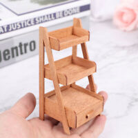 1:12 Scale Dollhouse Mini Wood Shelf Flower Stand Doll House Furniture ModQA