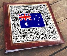 Large personalised photo album book 6x4 200 photos, Holiday Australia memories