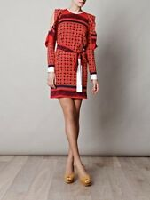Vionnet Georgette Maiolica-print Cut-out Sleeve Dress  IT Size 40, UK Size 6-8