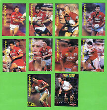 1996 ILLAWARRA STEELERS  SERIES 2 RUGBY LEAGUE CARDS