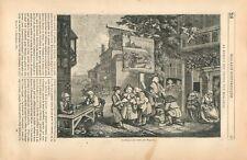 Solliciteurs de voix électorales Brigue des Votes William Hogarth GRAVURE 1837