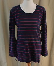 Levi's, Medium, Navy Multi Striped Waffle Knit Top, New with Tags