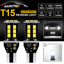 AUXITO T15 921 912 W16W LED Back Up Reverse Light CANBUS Error Free 2400LM 6000K
