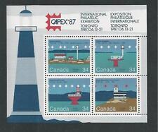 CANADA # 1066b MNH CAPEX '87, LIGHTHOUSES Souvenir Sheet
