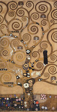 TREE OF LIFE BIRD EYES PAINTING BY GUSTAV KLIMT ON CANVAS REPRO LARGE