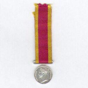 Miniature China War Medal, 1842