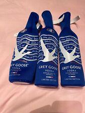 Grey Goose Vodka Bottle cover Zip Sleeve Koozie Insulator Lot Of Three