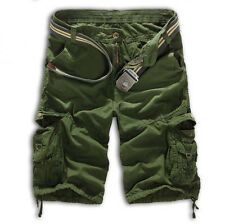 Mens Cargo Camo Military Combat Capri Pant Shorts Casual Work Hiking Trousers