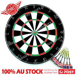 """18"""" Two Side Printing Dart Board+6 Darts Steel wire inlay durable Birsthday Gift"""