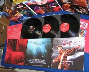 ELOY- Reincarnation On Stage LIM.3LP SET black vinyl GER KRAUT/PSYCHE CULT ocean
