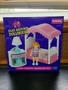Playskool Play Around Dollhouse Set Cozy Canopy Bedroom Set 1995
