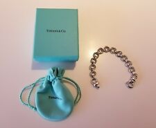 """Rare Vintage Tiffany & Co. 1960's Sterling Silver Double Circle 8"""" Link Bracelet"""