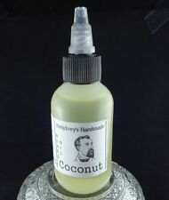 COCONUT Beard Oil, Mens Medium 2 oz Beard Conditioner, Tropical Natural Serum