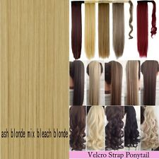 Long Layered Pony tail Clip-On Hair Piece Extension Claw Ponytail As Human Tws