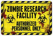"""8""""x12"""" METAL SIGN Zombie14 Research Dorm Bar Novelty Halloween Door Bedroom Room"""