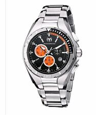 TechnoMarine Cruise Steel 45MM Chrono Orange Black Extra Strap Mens Watch 110010