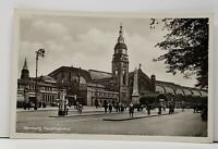 RPPC Germany Hamburg Central Station Real Photo Postcard H10