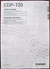 Casio CDP-120 Digital Piano Keyboard Original Users Owner's Manual Booklet