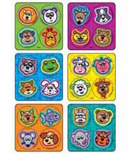 48 Jungle Zoo Farm Animal Dot  Stickers Party Favors Teacher Supply Rewards