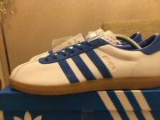 Adidas Athen White & Blue Leather Size 9 80s Football Casuals