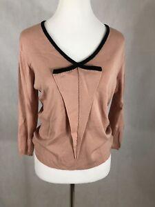 Diffusion D Women's  Sweater, size M, silk, Nylon, spandex Pink/black Trim