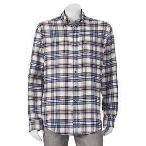 Big & Tall Croft & Barrow Classic-Fit Plaid Flannel Button-Down Shirt