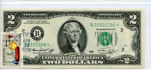 1976- STAR- $2 TWO DOLLAR Bicentennial Note With Postal Stamp UNCIRCULATED  0190