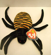 TY Beanie Baby SPINNER THE SPIDER Beanbag Plush Stuffed Toy HALLOWEEN DECOR