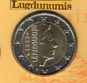 Luxembourg 2008 2 euro BU FDC Pièce Provenant BU 10000 Exemplaires