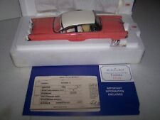 New ListingDanbury Mint Diecast 1956 Lincoln Premiere Coupe Pink With Title Mib