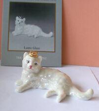 Curio Cabinet Cats, Lustre Glaze, The Franklin Mint