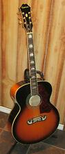 Epiphone EJ 200 Jumbo Vintage Sunburst 6 String Acoustic with upgrades & HSC!!!