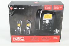 Motorola L513cBT 2 Cordless & 1 Corded Phone System Use Cell Service or Landline