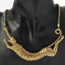 Leopard Animal Pendant Chunky Necklace Chain Women Fashion Jewlery Bijoux