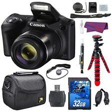 Canon PowerShot SX420 IS Digital Camera Bundle (Black) with 32GB Memory Card