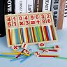 Bambini Bimbi Montessori Legno Matematica Numero Gioco Bacchette Puzzle Presto