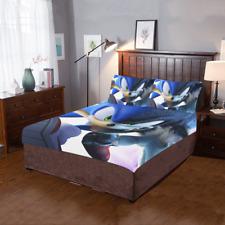 New Offer Custom Sonic The Hedgehog Duvet Cover Pillowcase 3-Pieces Bedding Set