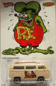 Matchbox CUSTOM VOLKSWAGEN BUS Rat Fink Real Riders Limited 1/10 Made