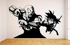 Goku Vs Piccolo Vinyl Wall Decal - Dragon Ball, DBZ Anime Wall Art Sticker Manga