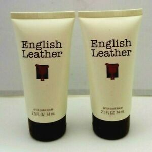 2 pk English Leather After Shave Balm 2.5 oz ea by DANA unbox Original Authentic